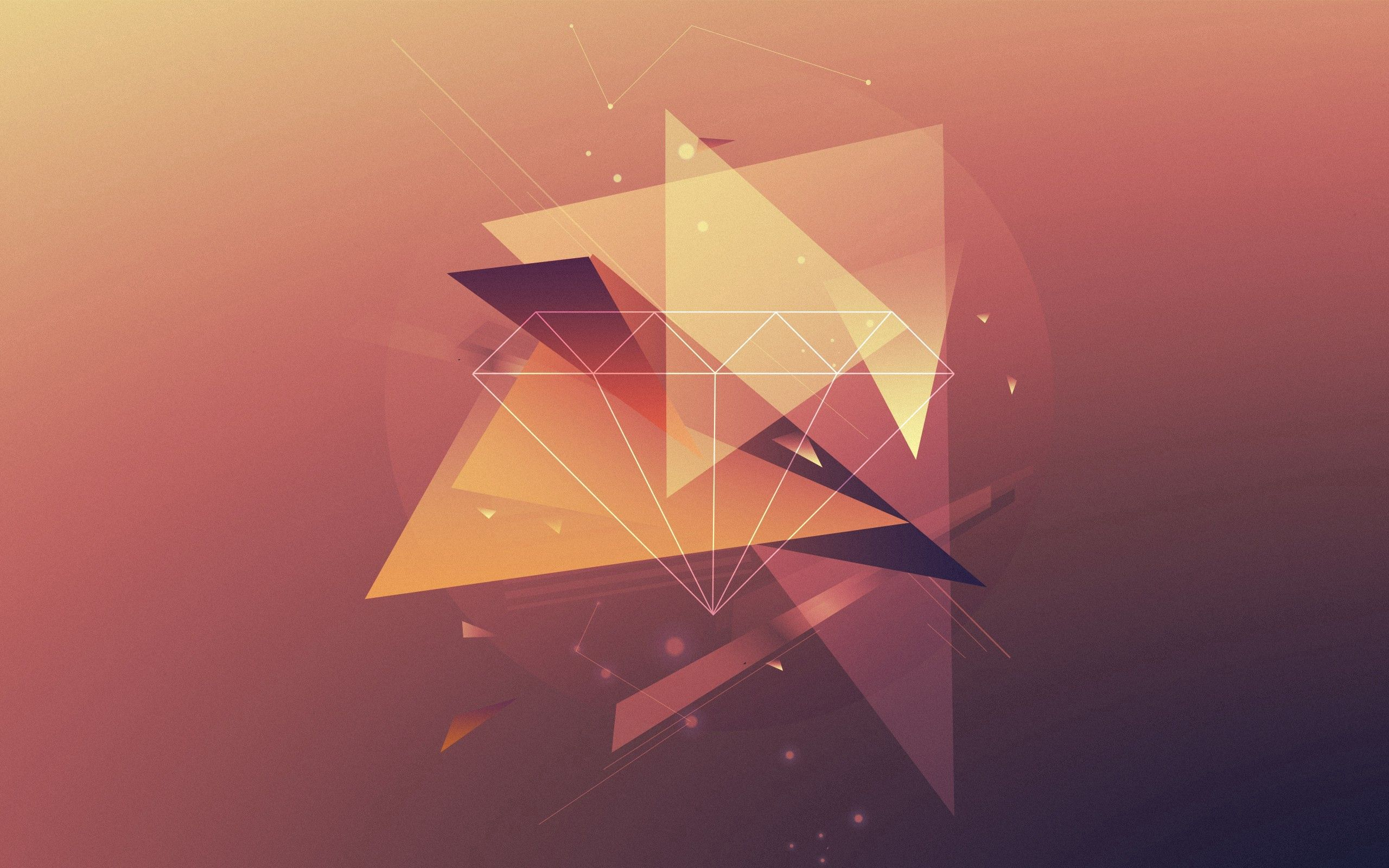 125485 download wallpaper Abstract, Triangles, Lines, Faded, Background screensavers and pictures for free