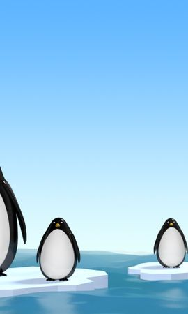 1430 скачать обои Животные, Пингвины, Рисунки - заставки и картинки бесплатно