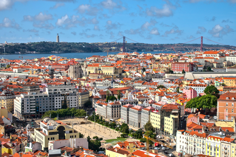 64506 免費下載壁紙 城市, 建造, 建筑物, 从上面看, 顶视图, 里斯本, 建筑 屏保和圖片