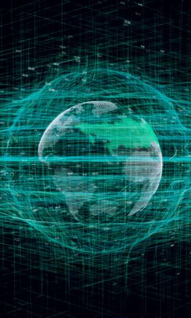 77760 télécharger le fond d'écran Abstrait, Planète, Sphère, Hologramme - économiseurs d'écran et images gratuitement
