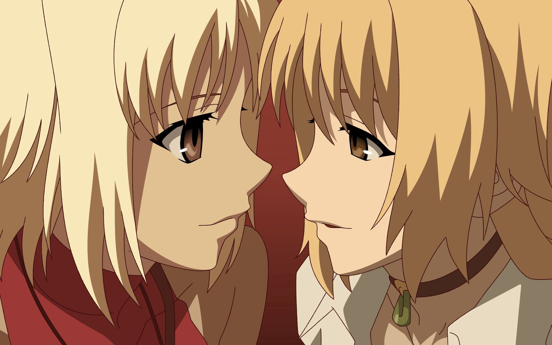 75898 download wallpaper Anime, Girls, Sight, Opinion, Blonde, Blondes screensavers and pictures for free