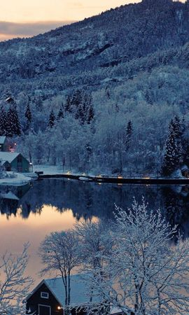 35535 скачать обои Пейзаж, Зима, Река - заставки и картинки бесплатно