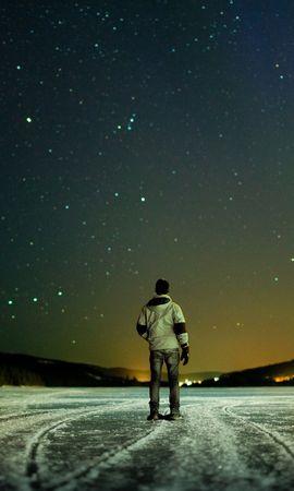 24481 скачать обои Люди, Небо, Лед, Мужчины, Ночь - заставки и картинки бесплатно