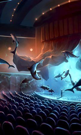 53843 baixar papel de parede Arte, Show, Concerto, Surrealismo, Músico, Golfinhos - protetores de tela e imagens gratuitamente