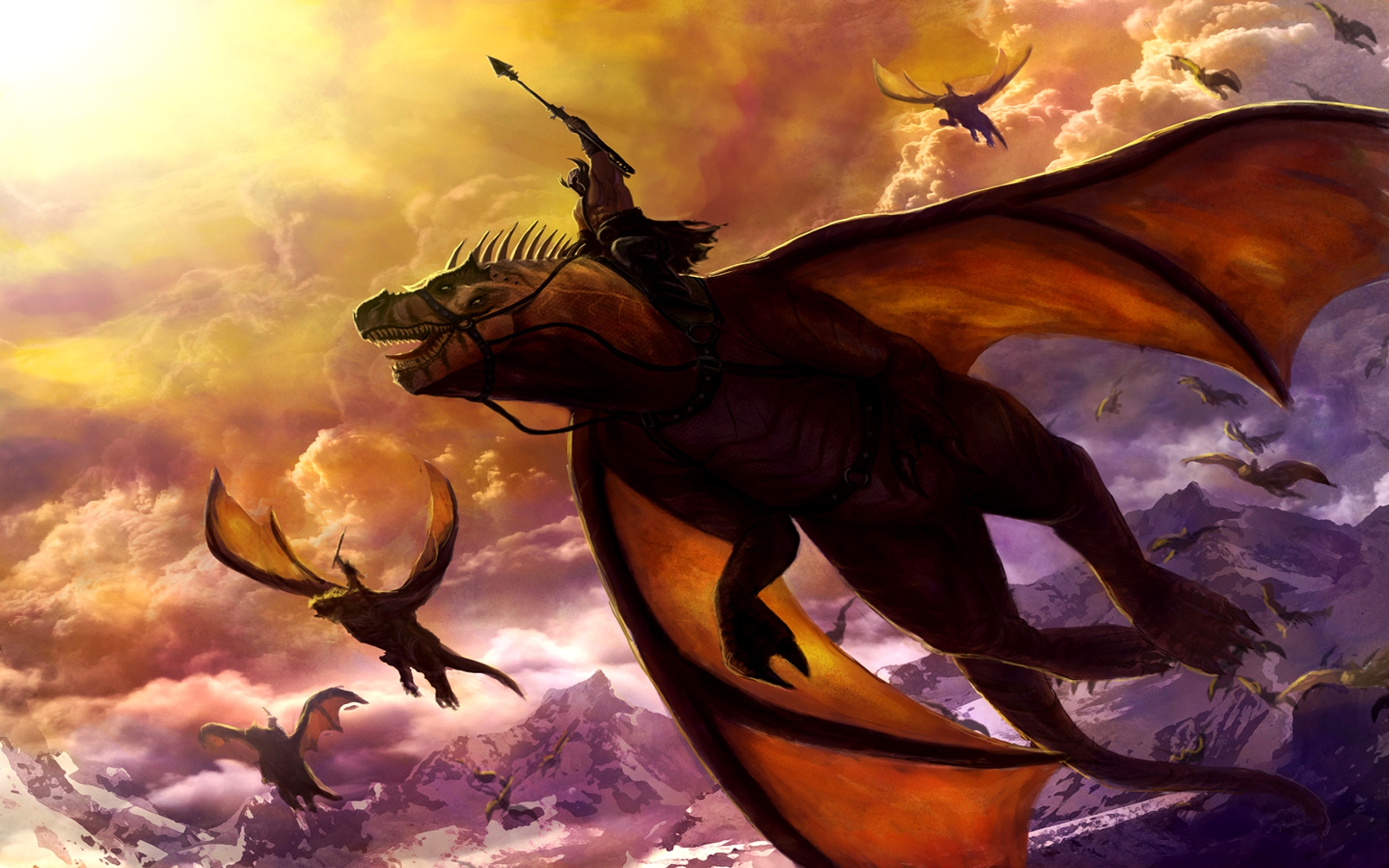 23971 download wallpaper Fantasy, Dragons screensavers and pictures for free