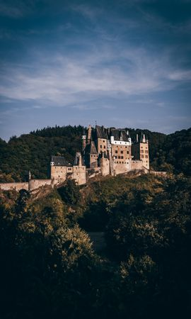 114424 Screensavers and Wallpapers Architecture for phone. Download Lock, Forest, Eltz Castle, Elz Castle, Wirsham, Germany, Architecture, Cities pictures for free