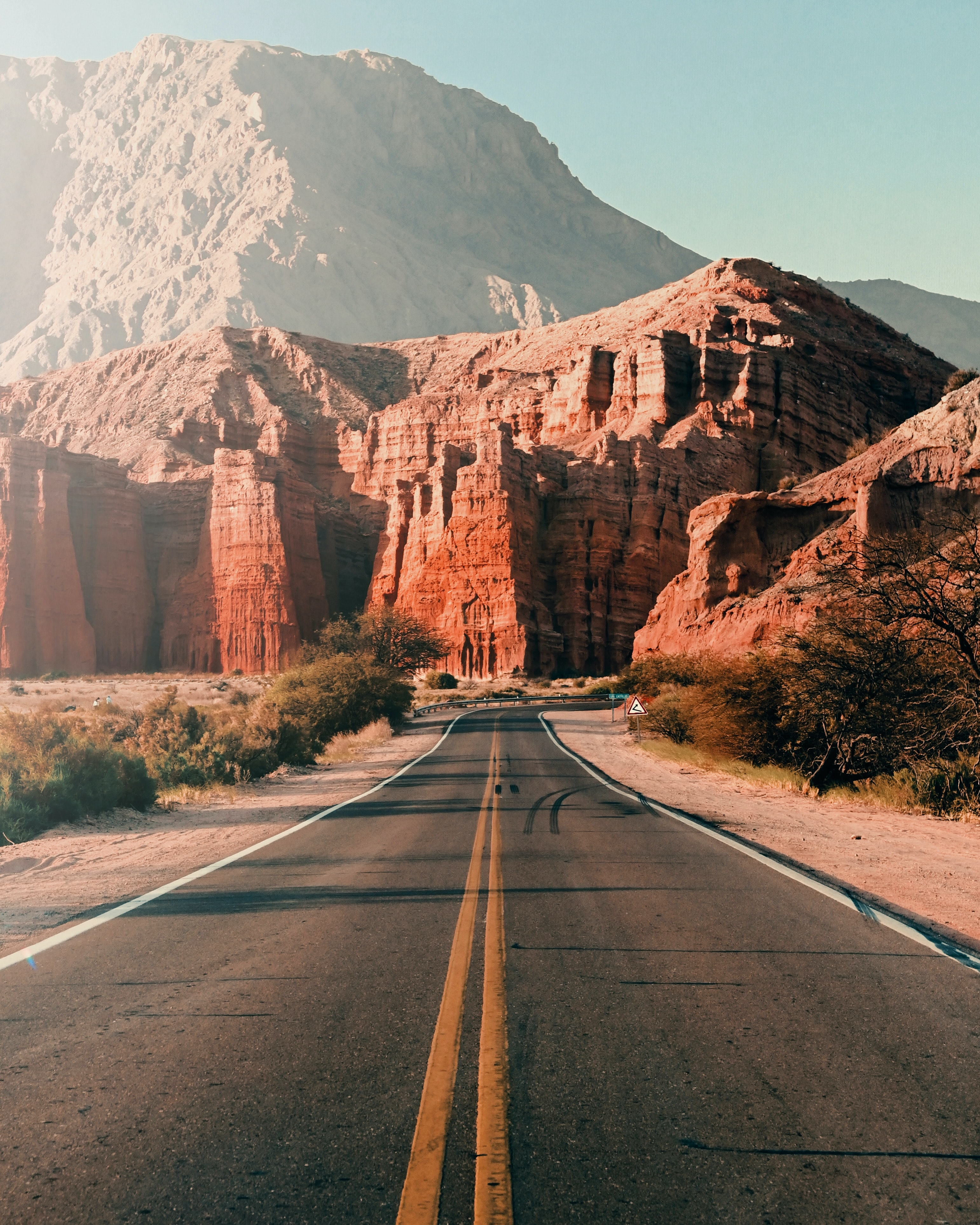114891 Screensavers and Wallpapers Landscape for phone. Download Road, Asphalt, Rocks, Nature, Mountains, Landscape pictures for free
