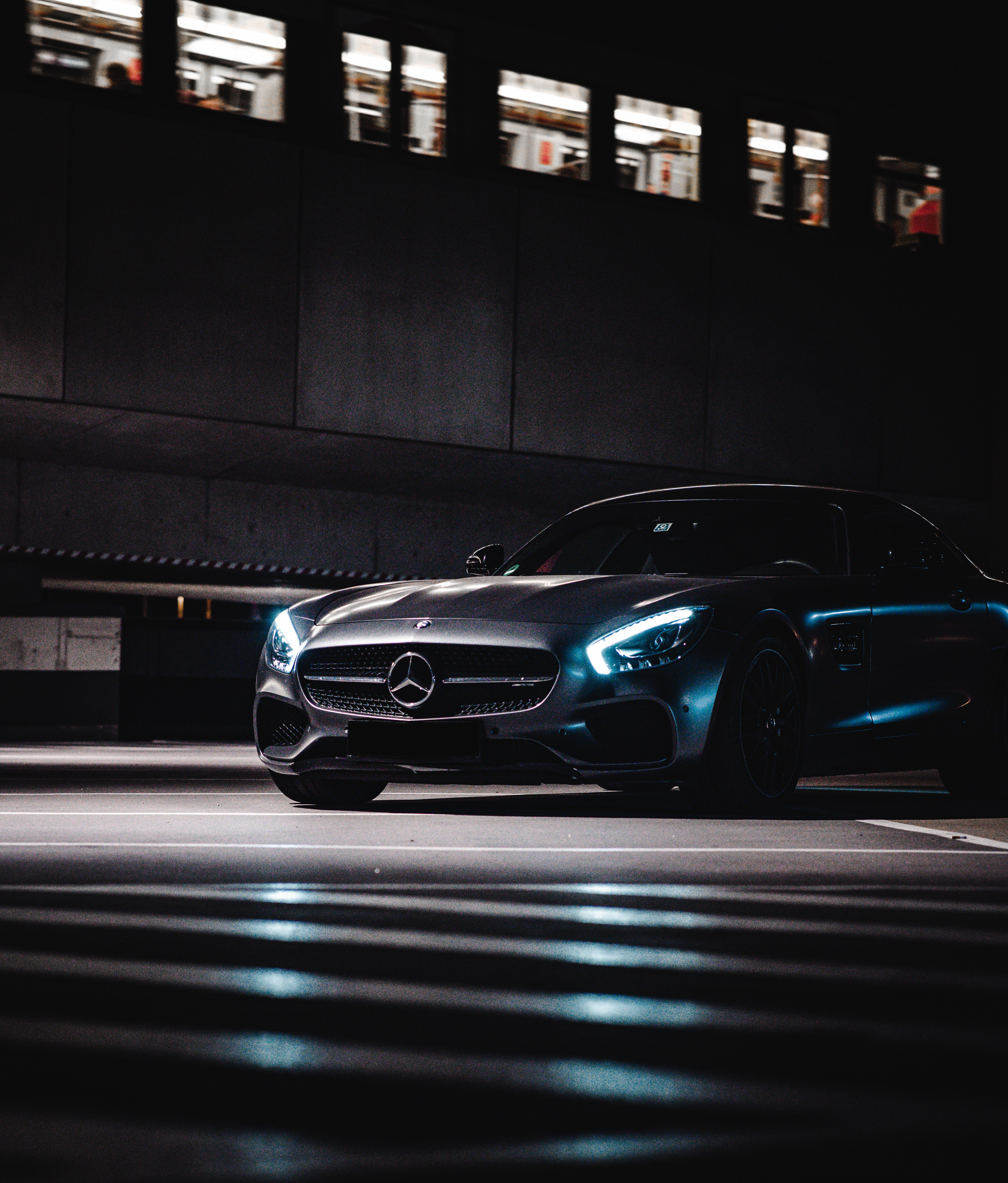 73927 download wallpaper Dark, Cars, Car, Machine, Grey, Mercedes, Supercar screensavers and pictures for free