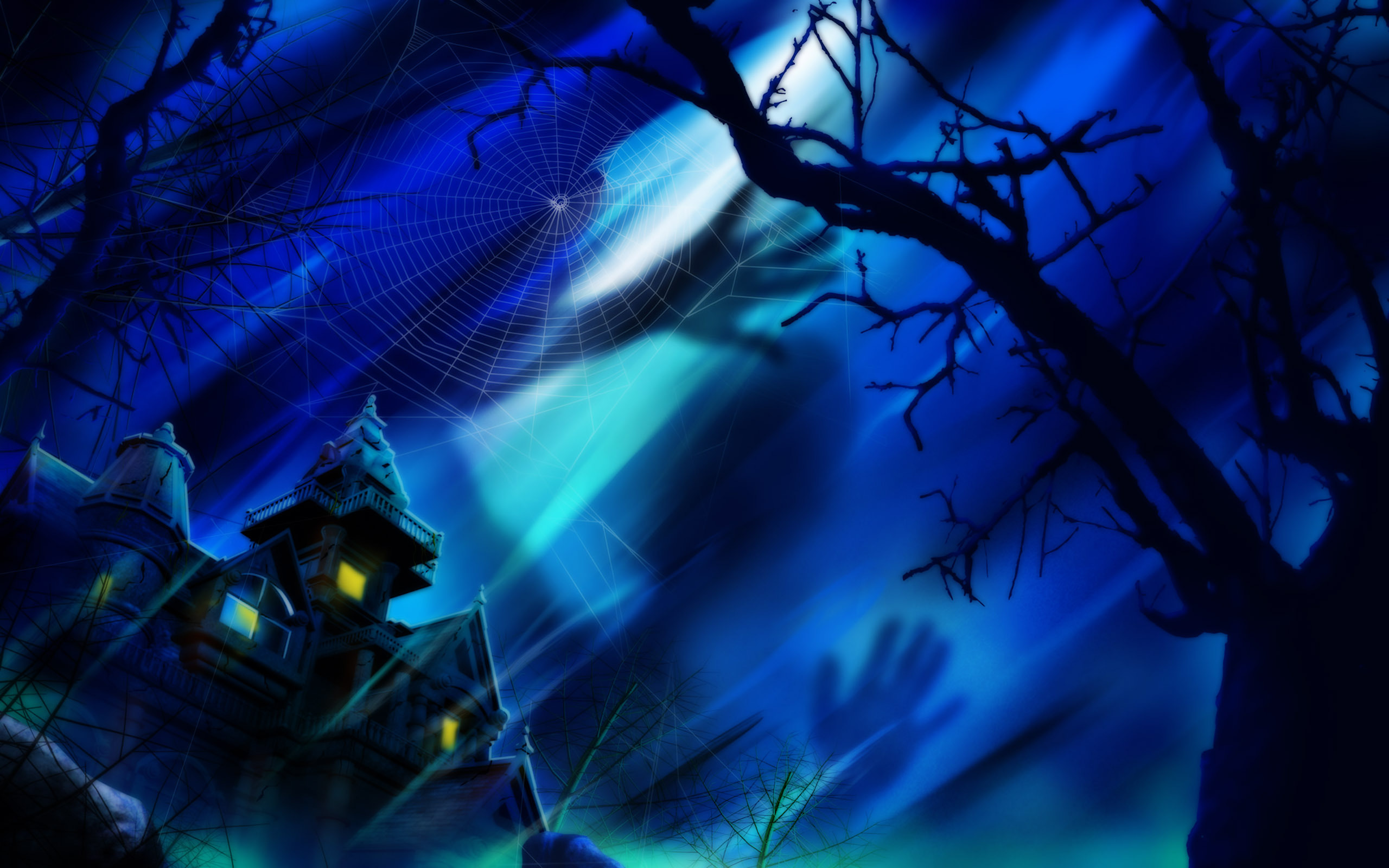 15605 download wallpaper Houses, Halloween, Pictures screensavers and pictures for free