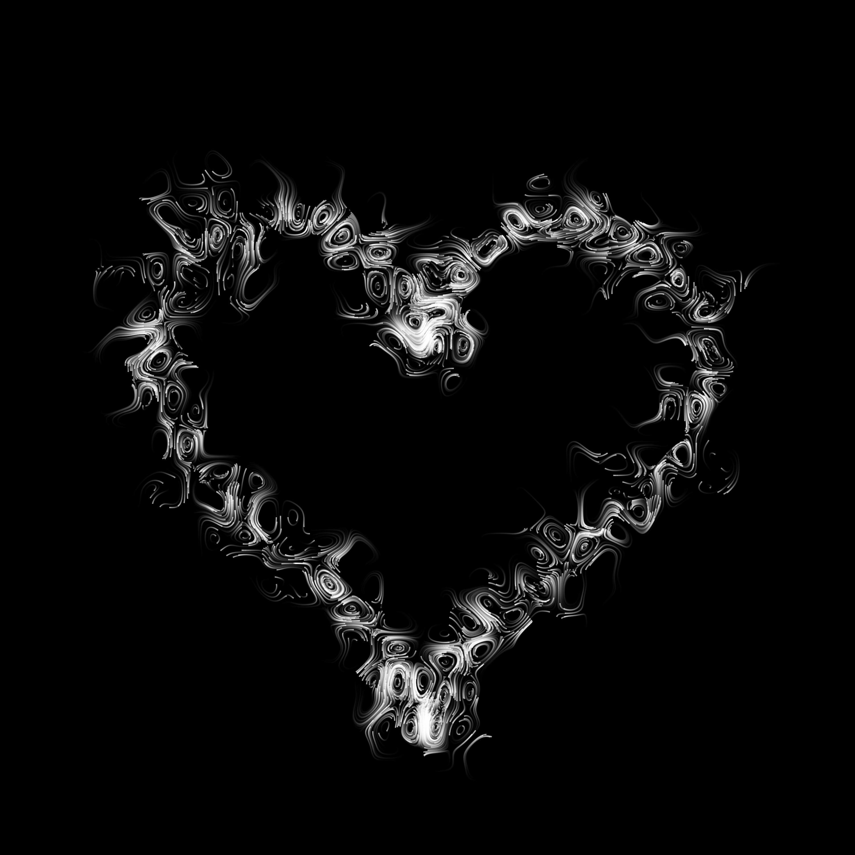107354 Заставки и Обои Любовь на телефон. Скачать Любовь, Сердце, Круги, Разводы, Черный картинки бесплатно
