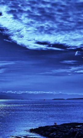 お使いの携帯電話の137441スクリーンセーバーと壁紙ピープル。 自然, 輝く, 光, スカイ, ビーム, 光線, 雲, 上から, 上, 青い, イブニング, 夕方, 海, ピープルの写真を無料でダウンロード