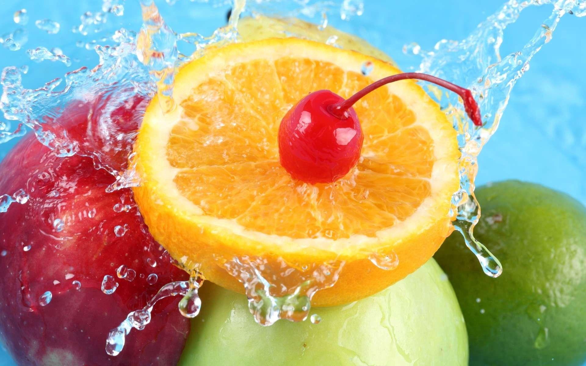 免費下載 74101: 水果, 食物, 樱桃, 苹果, 橙子 桌面壁紙