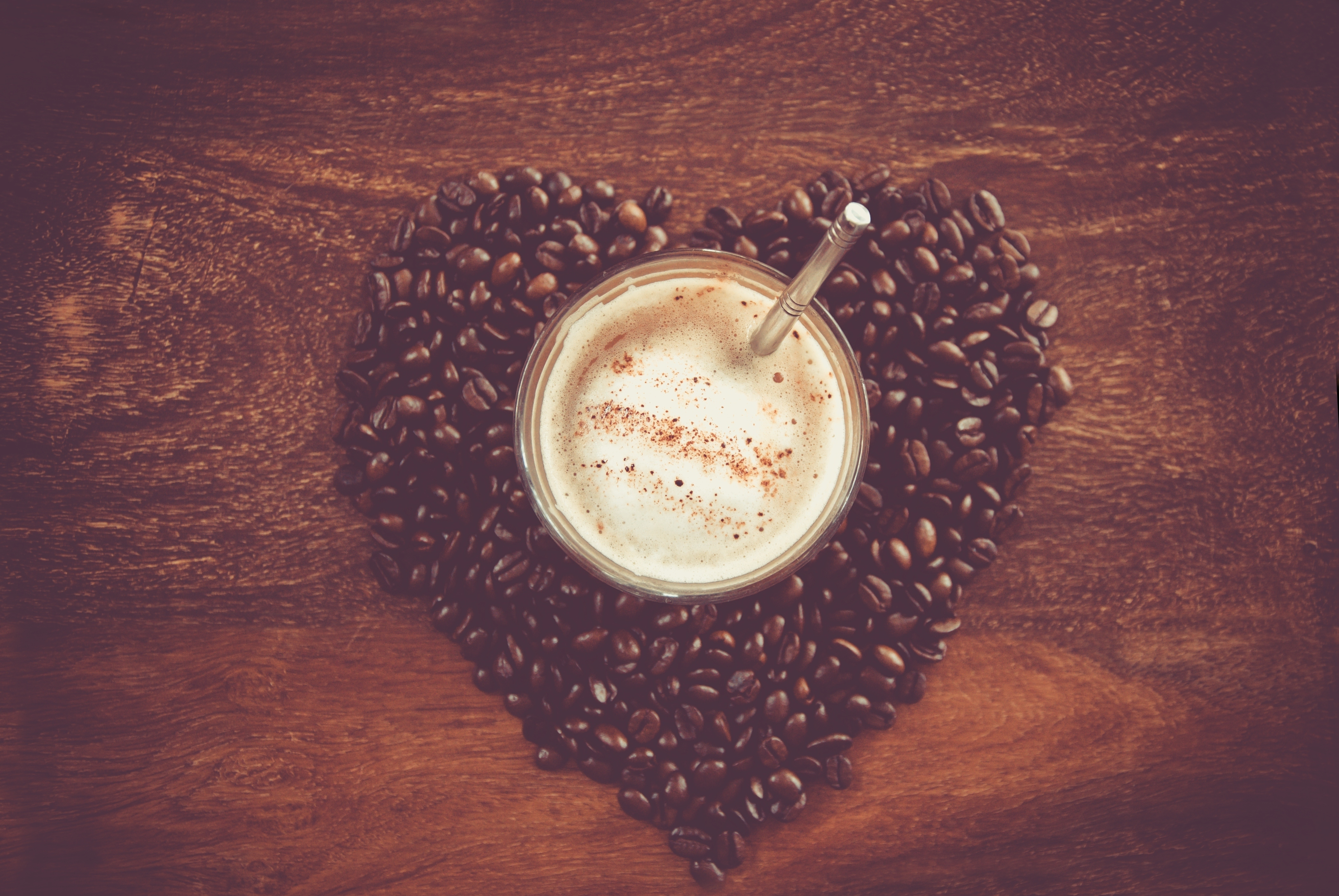 148076 download wallpaper Miscellanea, Miscellaneous, Coffee, Cup, Foam, Coffee Beans, Table screensavers and pictures for free