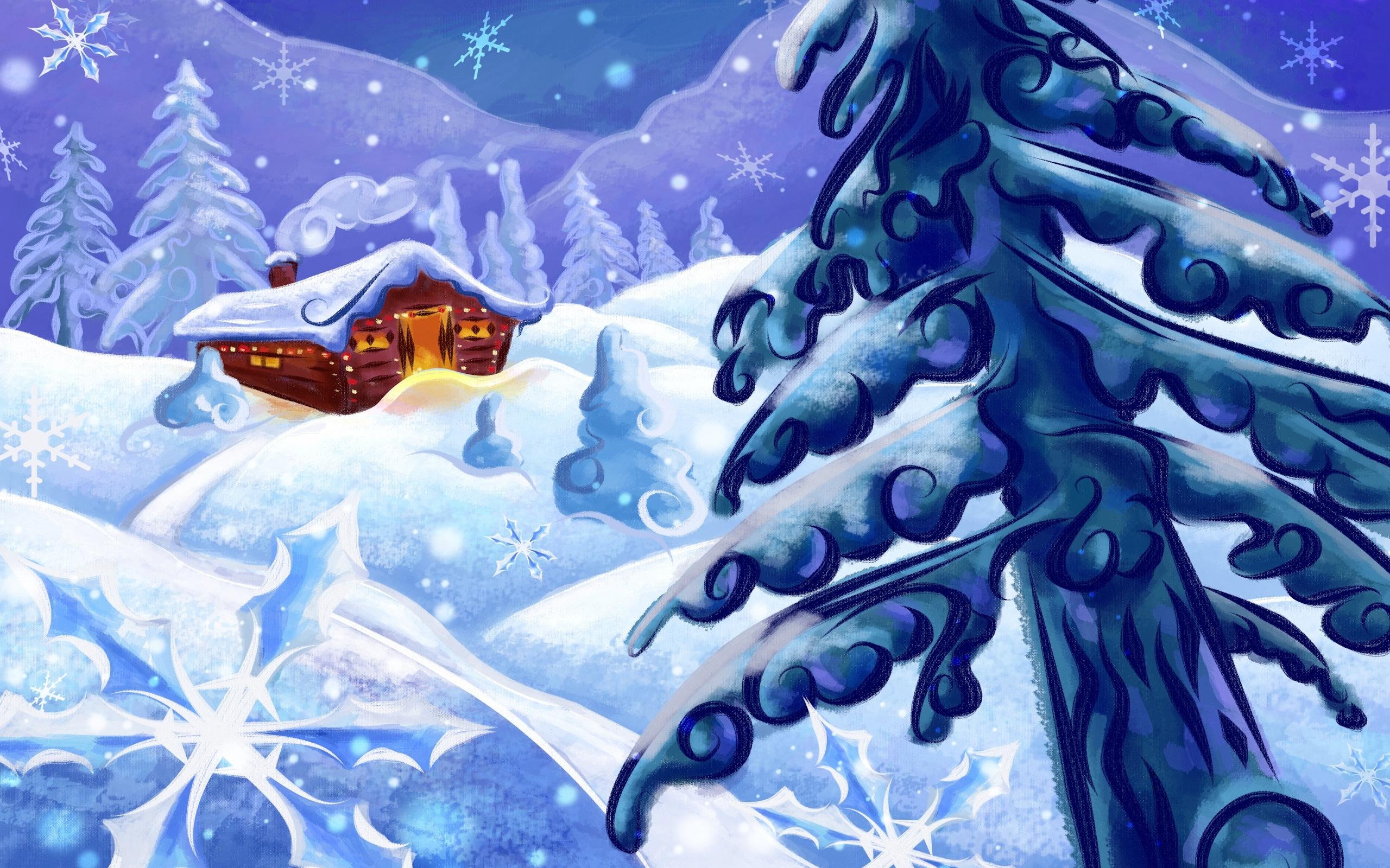 14059 descargar fondo de pantalla Paisaje, Invierno, Árboles, Año Nuevo, Abetos, Navidad, Imágenes: protectores de pantalla e imágenes gratis