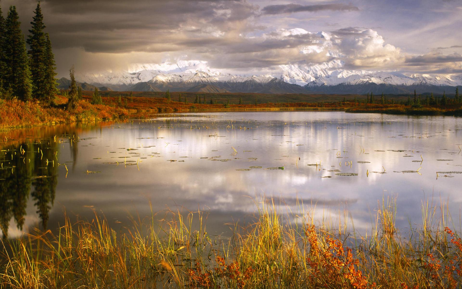 25416 скачать обои Пейзаж, Река, Небо, Горы, Облака - заставки и картинки бесплатно