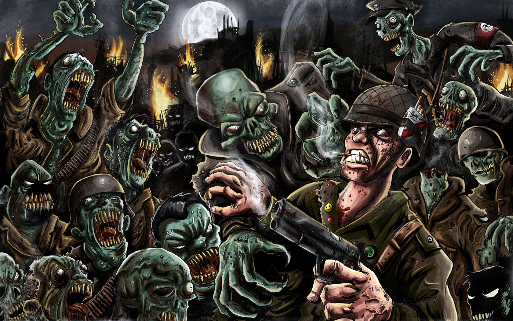 29590 Screensavers and Wallpapers Zombies for phone. Download Fantasy, Zombies pictures for free