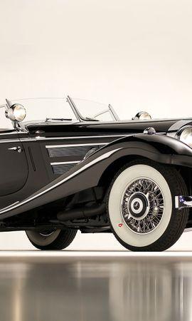 153046 télécharger le fond d'écran Voitures, Mercedes, 1936, 540K, 540 Ko, Roadster Spécial, Classique, Voiture, Le Noir - économiseurs d'écran et images gratuitement