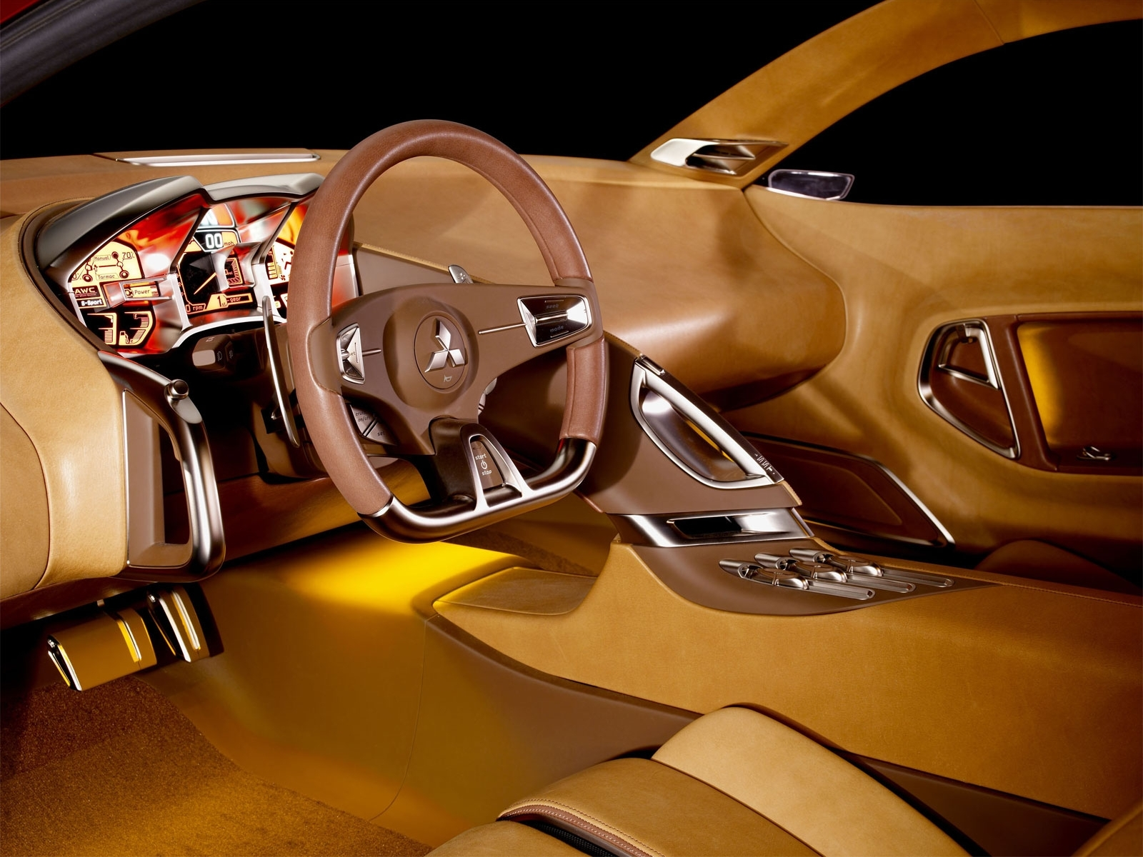 8210 download wallpaper Transport, Auto, Brands, Mitsubishi, Interior screensavers and pictures for free