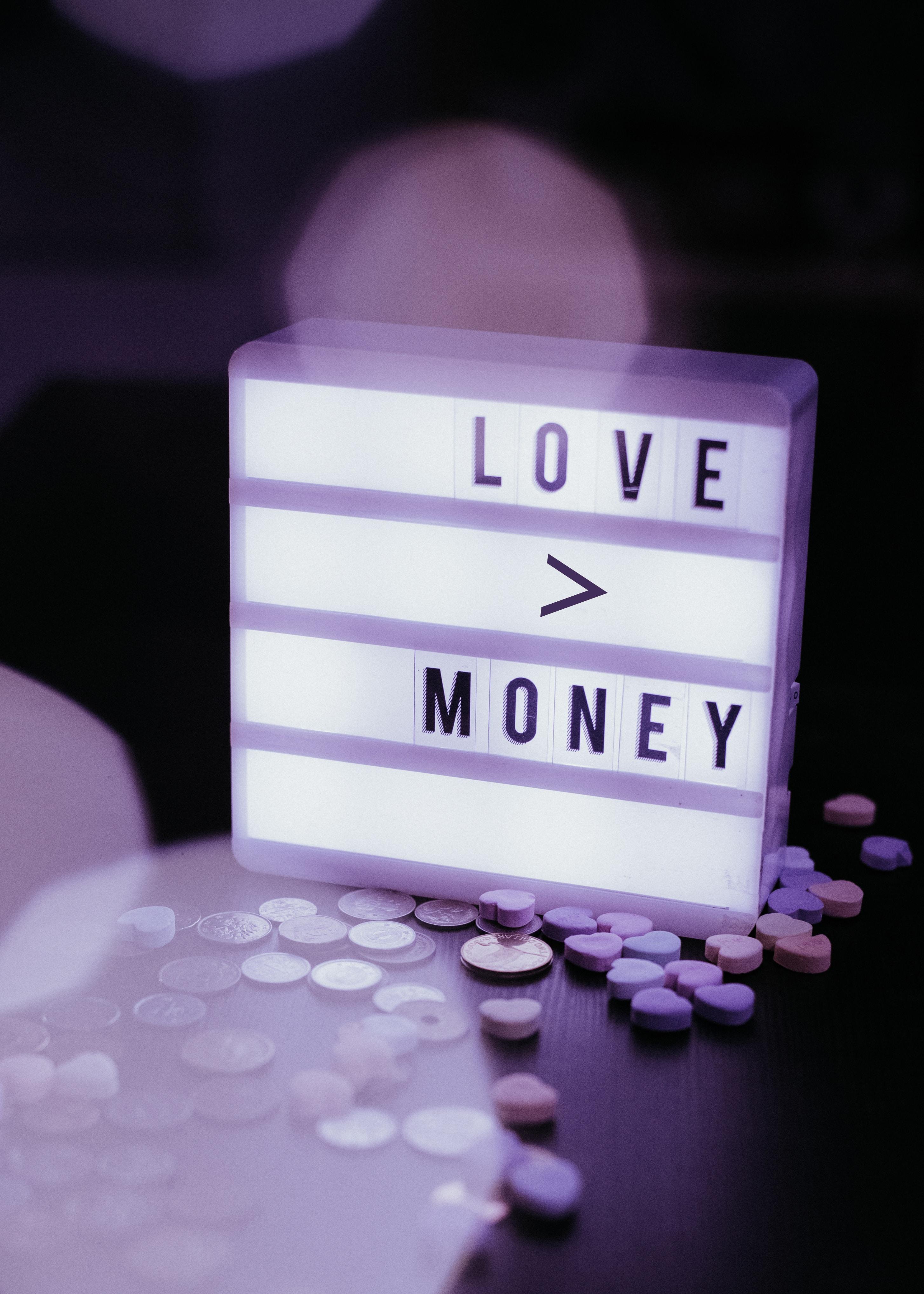71292 Заставки и Обои Деньги на телефон. Скачать Деньги, Любовь, Слова, Свет, Табличка картинки бесплатно