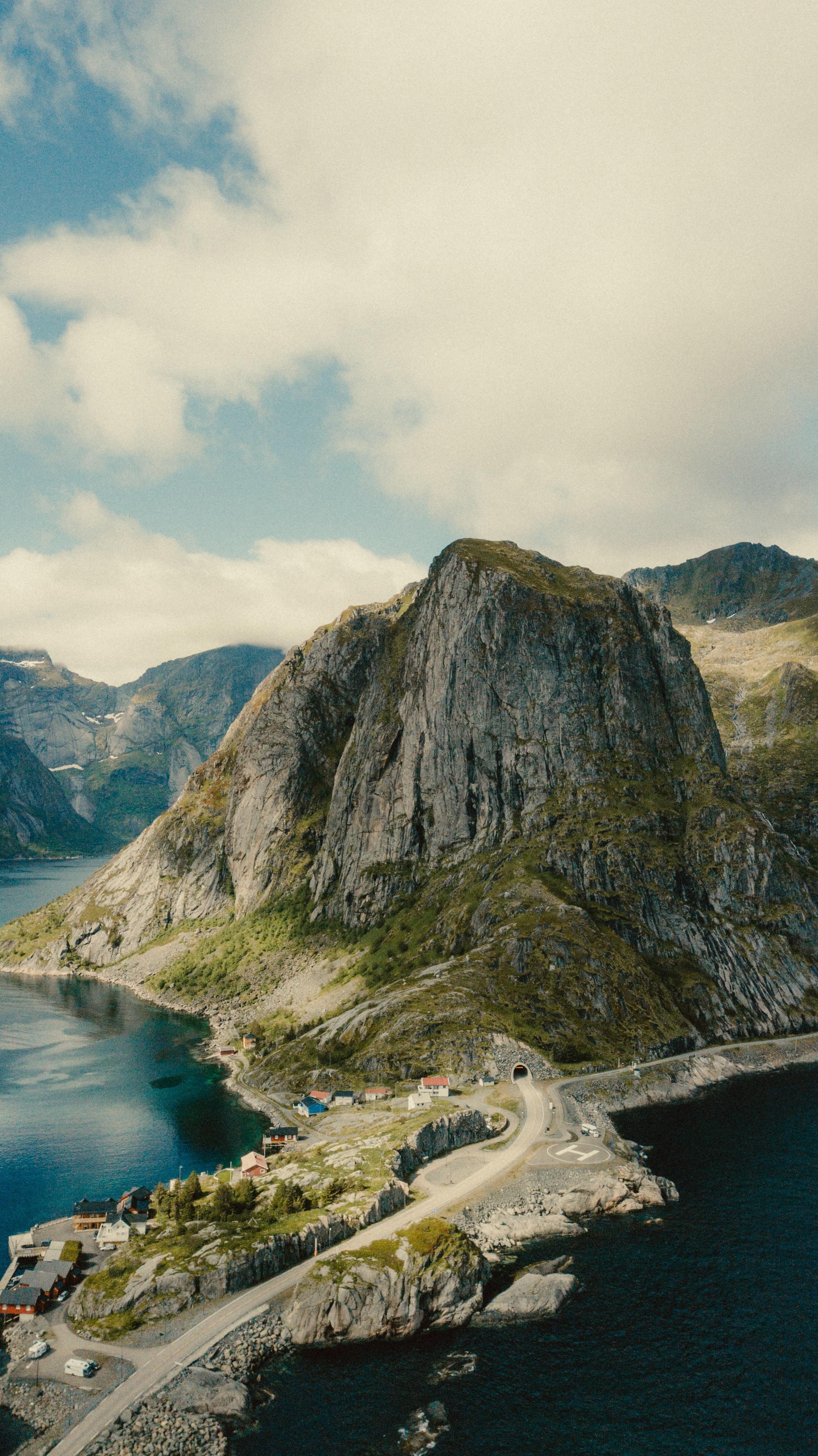 52006 免費下載壁紙 性质, 海岸, 岛, 岛屿, 从上面看, 顶视图, 山 屏保和圖片