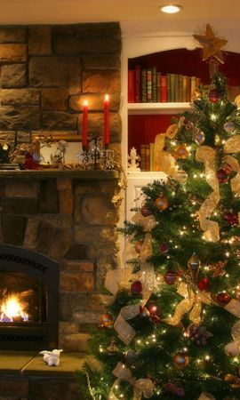 4624 скачать обои Праздники, Новый Год (New Year), Интерьер, Елки, Рождество (Christmas, Xmas) - заставки и картинки бесплатно