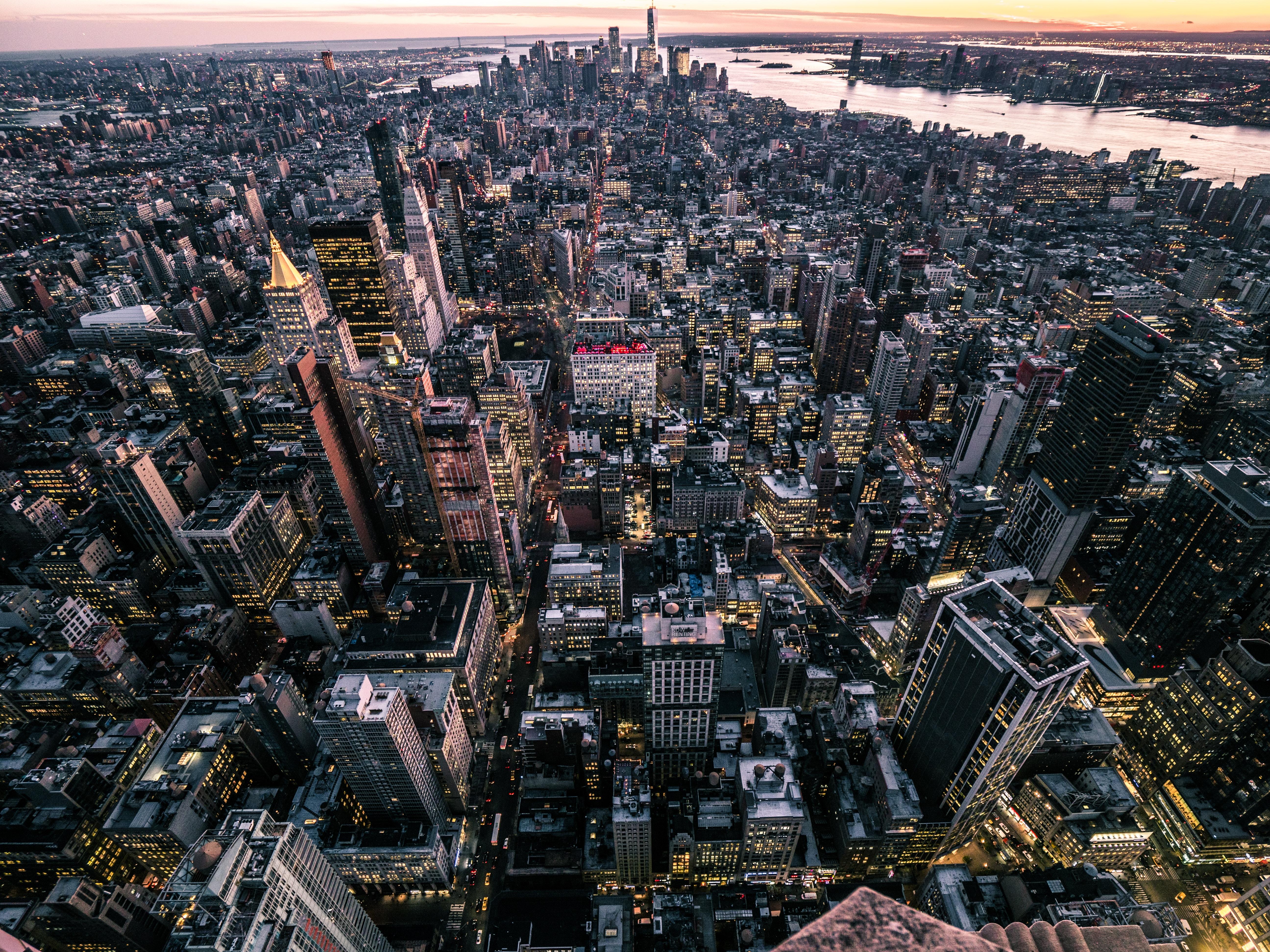 83895 Заставки и Обои Города на телефон. Скачать Нью-Йорк, Сша, Город, Вид Сверху, Города картинки бесплатно