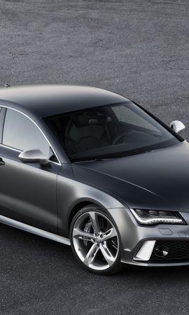 111287 télécharger le fond d'écran Voitures, Audi, Rs7, Le Noir, Vue De Côté - économiseurs d'écran et images gratuitement
