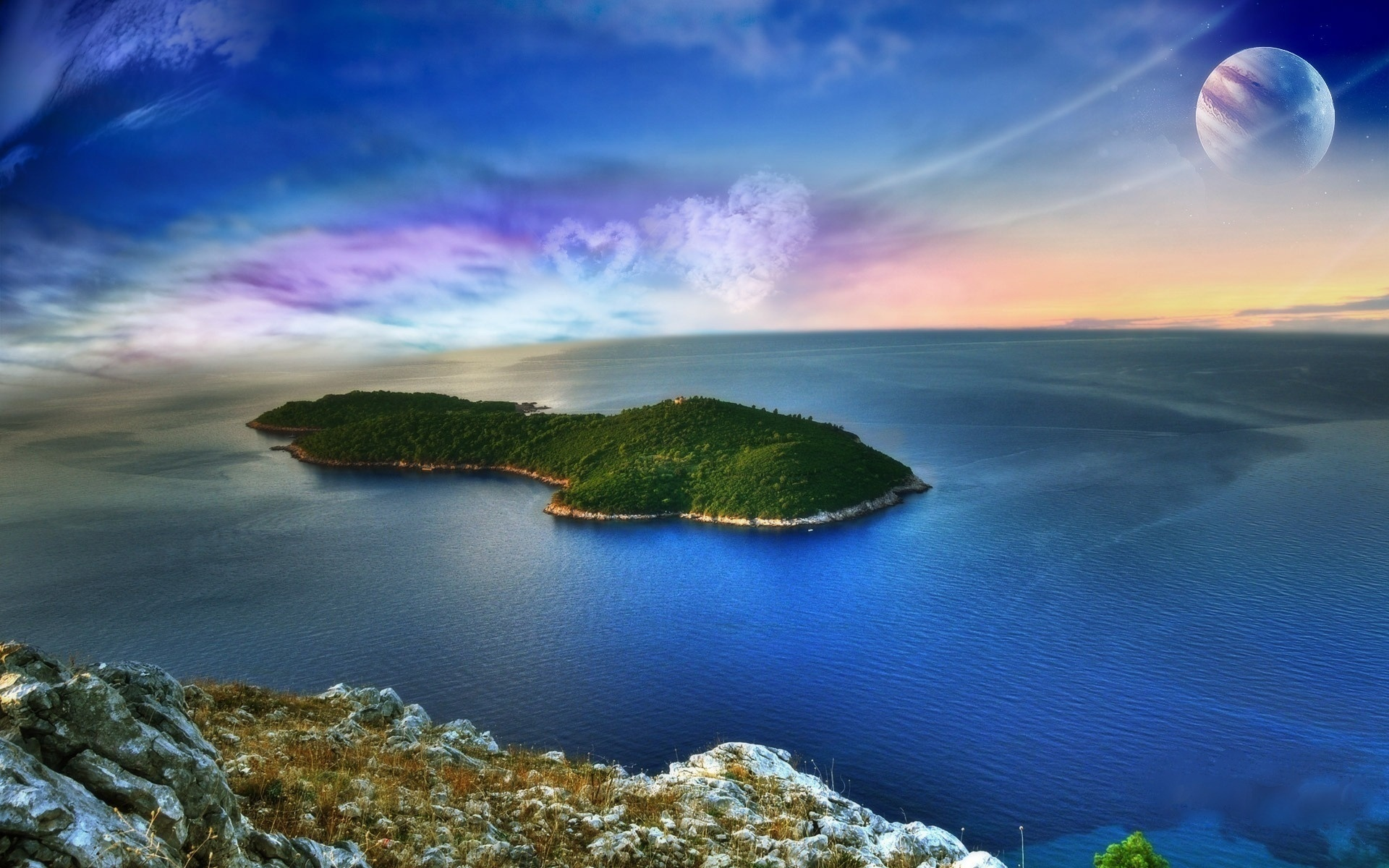 29870 download wallpaper Landscape, Sea, Art Photo screensavers and pictures for free