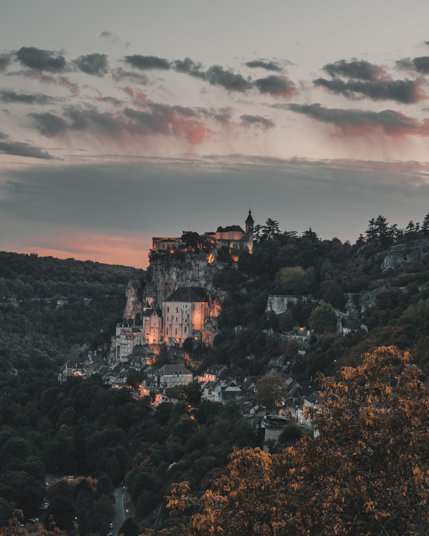 104652壁紙のダウンロードコミューン, 建物, ロカマドゥール, フランス, 山脈, 都市-スクリーンセーバーと写真を無料で