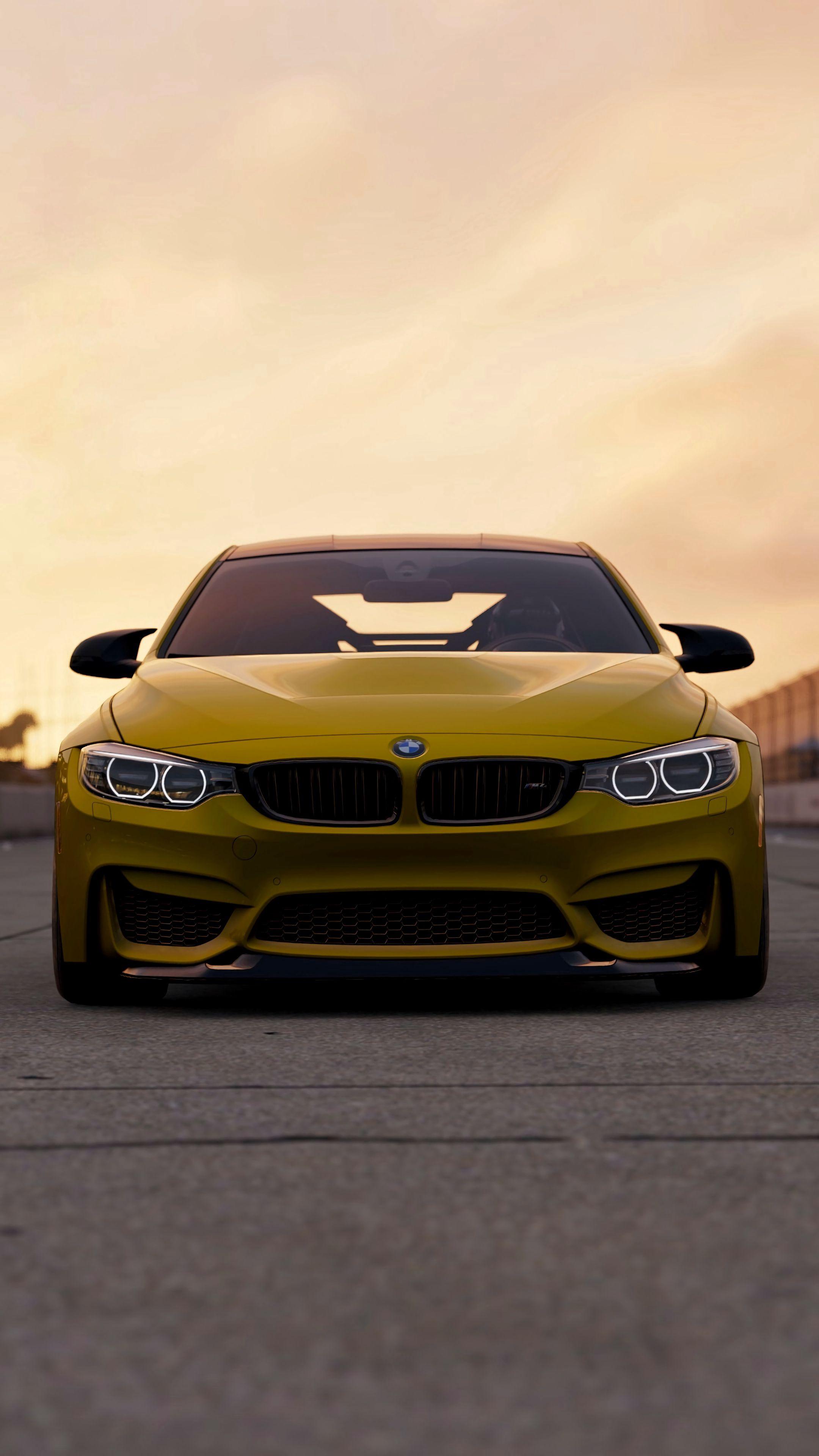 155324 скачать обои Машины, Бмв (Bmw), Вид Спереди, Тачки (Cars), Желтый, Bmw M4, Bmw M4 Gts - заставки и картинки бесплатно