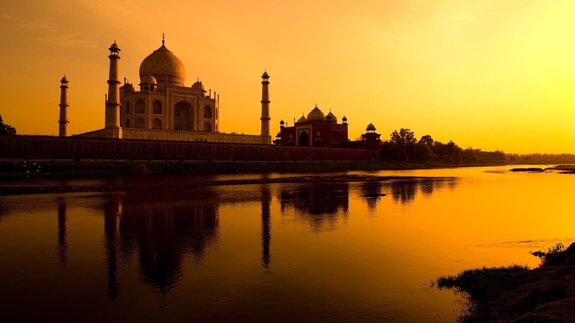 30665 скачать обои Пейзаж, Архитектура, Тадж Махал (Taj Mahal) - заставки и картинки бесплатно