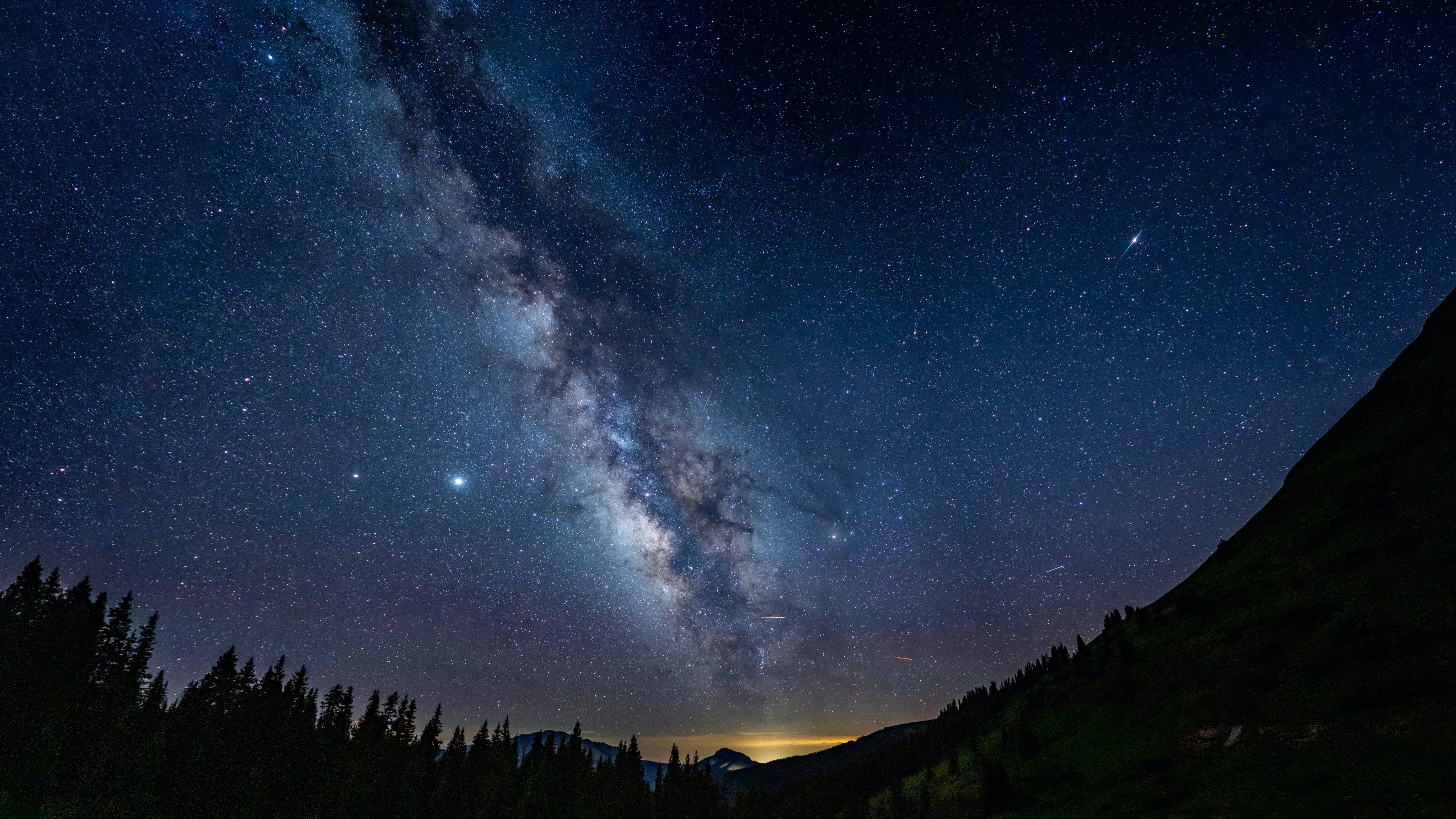 77444 download wallpaper Starry Sky, Landscape, Mountains, Night, Dark, Milky Way screensavers and pictures for free
