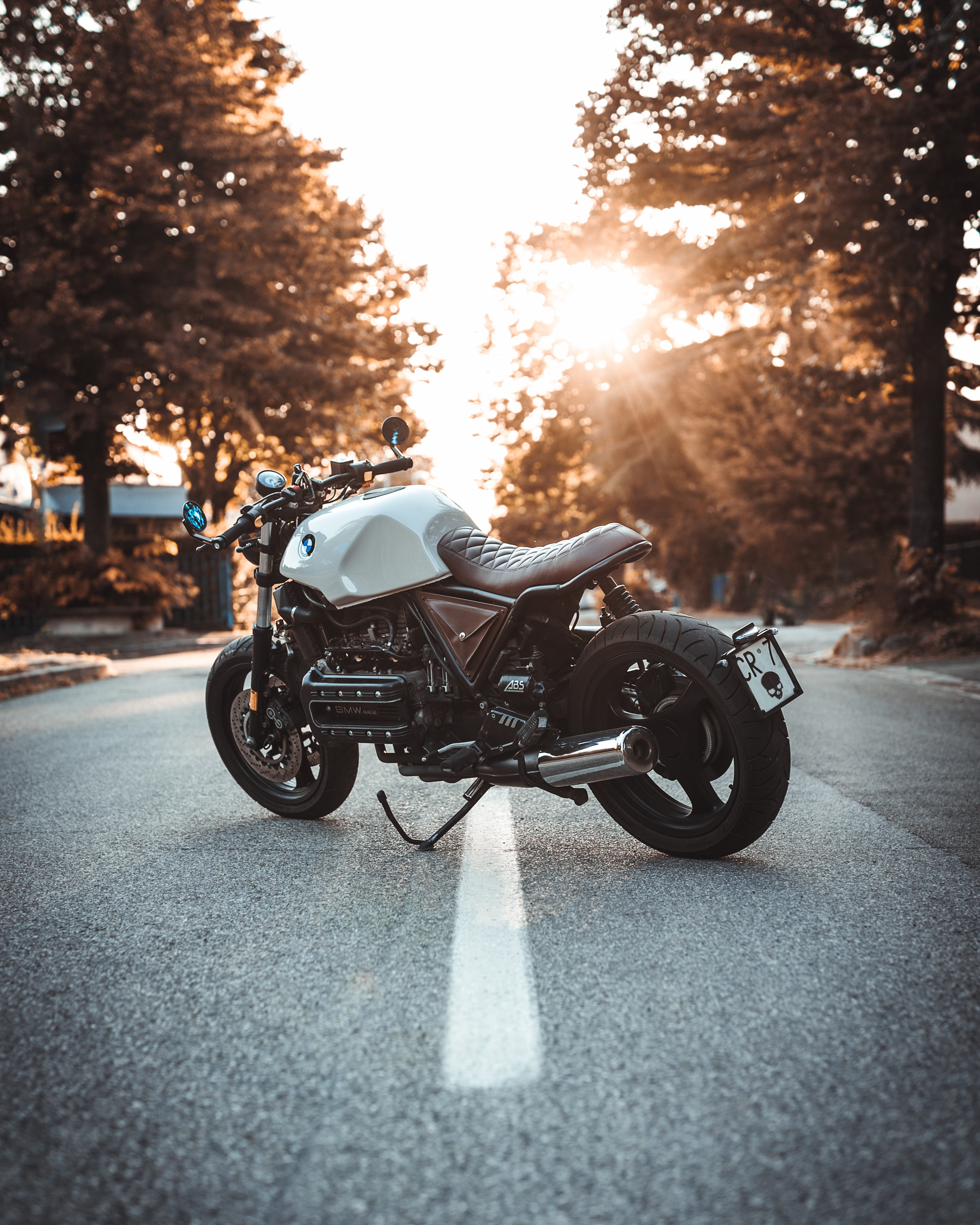 88385 Hintergrundbild herunterladen Motorräder, Seitenansicht, Motorrad, Fahrrad, Bmw K100 - Bildschirmschoner und Bilder kostenlos