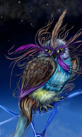 131608 baixar papel de parede Fantasia, Coruja, Mocho, Faisão, Sendo, Criatura, Pássaro, Noite - protetores de tela e imagens gratuitamente