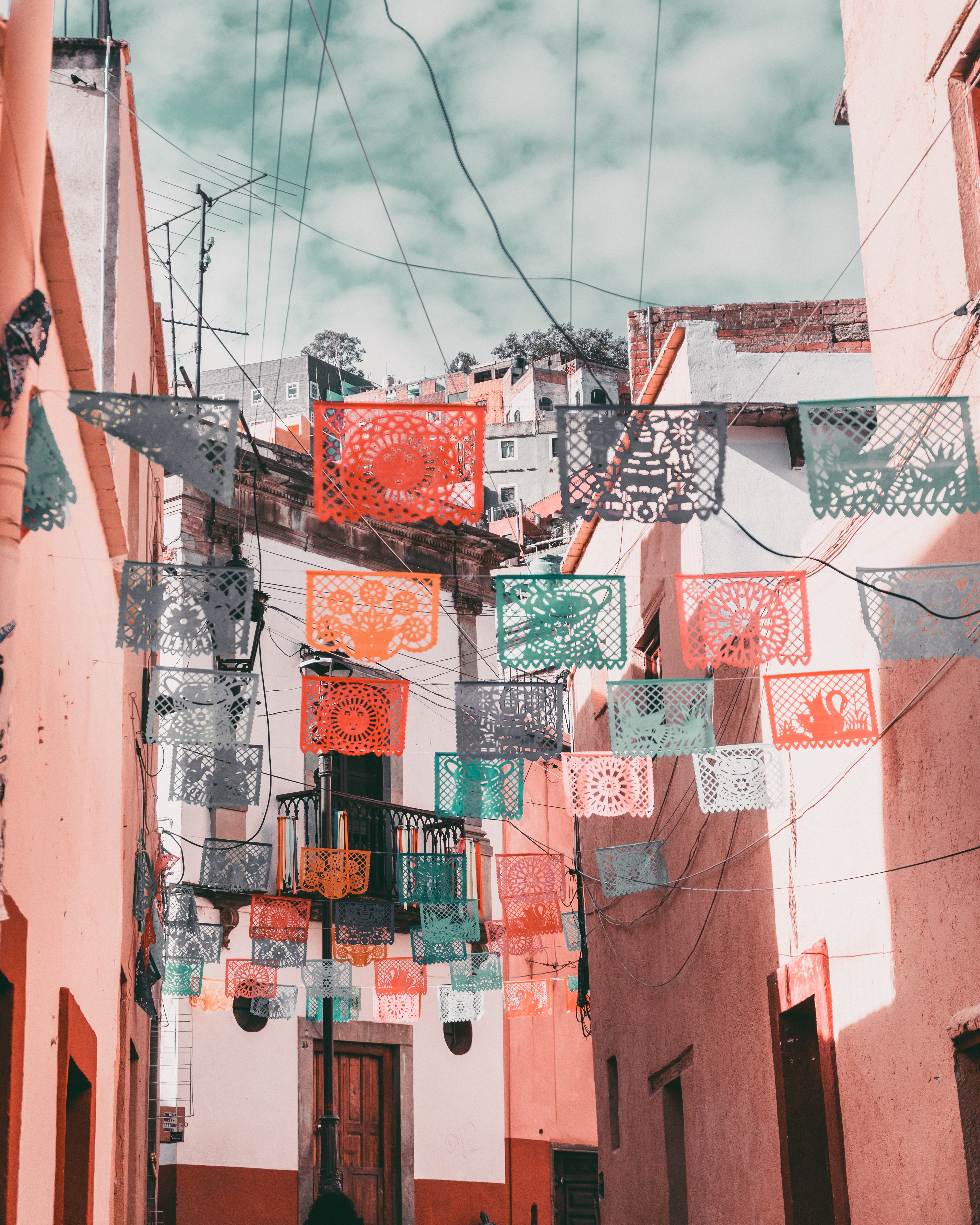 157396 download wallpaper Street, Napkins, Mexico, Architecture, Cities screensavers and pictures for free