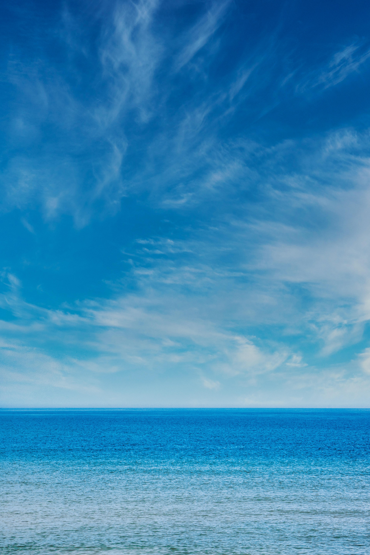 120122 скачать обои Природа, Море, Горизонт, Небо, Волны - заставки и картинки бесплатно