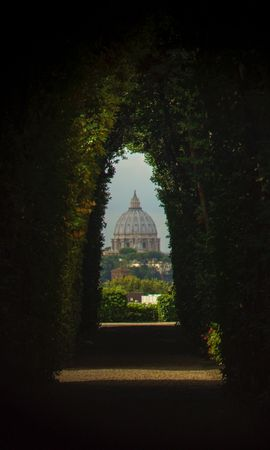 157051 скачать обои Арка, Растения, Купол, Архитектура, Города - заставки и картинки бесплатно