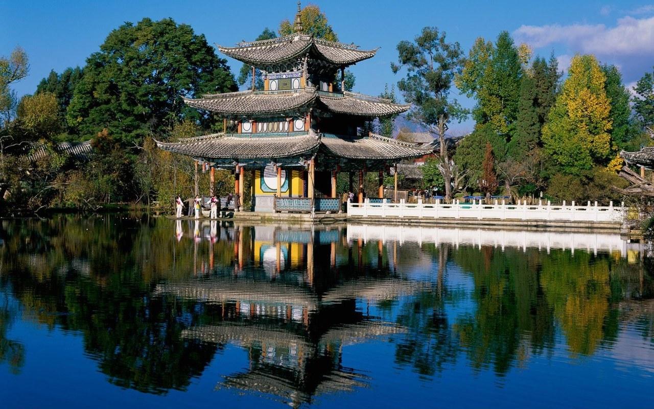 11488 скачать обои Пейзаж, Дома, Азия, Озера - заставки и картинки бесплатно