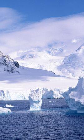 130767 télécharger le fond d'écran Nature, Neige, Glace, Du Froid, Froid, Océan, Iceberg, Fragments, Miettes, Montagnes - économiseurs d'écran et images gratuitement