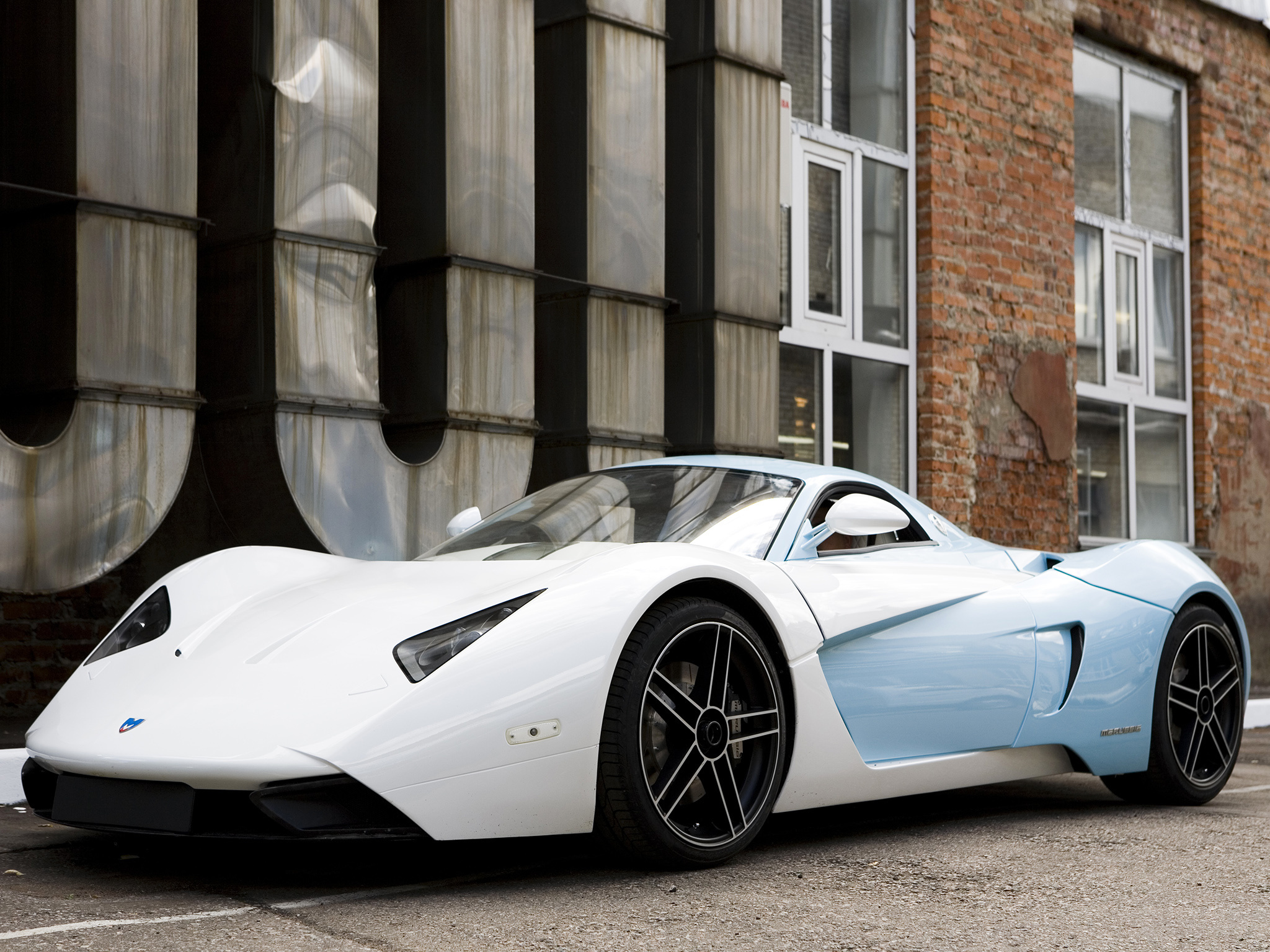 80348 download wallpaper Cars, Marussia, B1, Auto, Side View screensavers and pictures for free