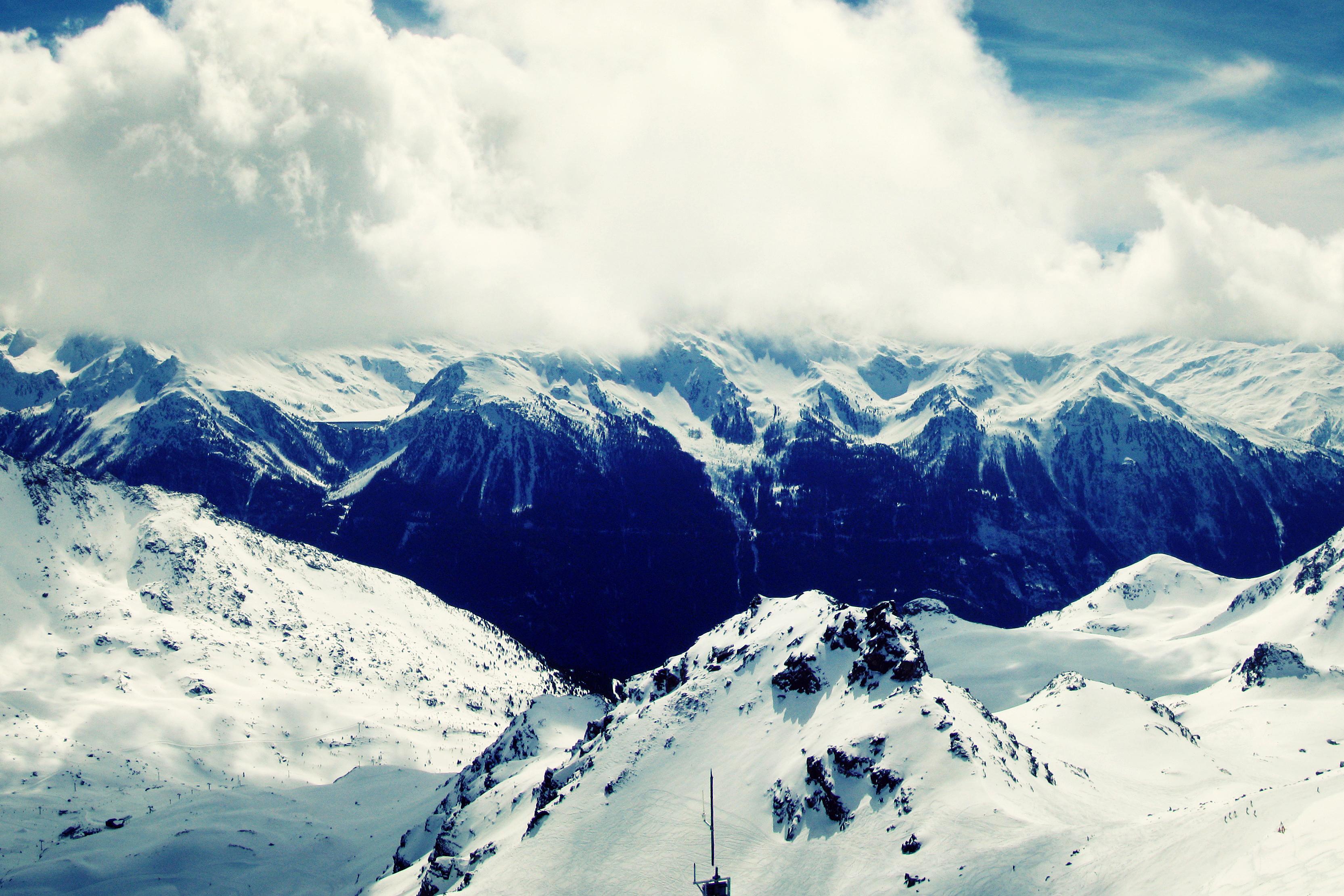 102375壁紙のダウンロード自然, ヴァル・トランス, ヴァル・ソランス, フランス, トップス, 頂点, 雪, 山脈-スクリーンセーバーと写真を無料で