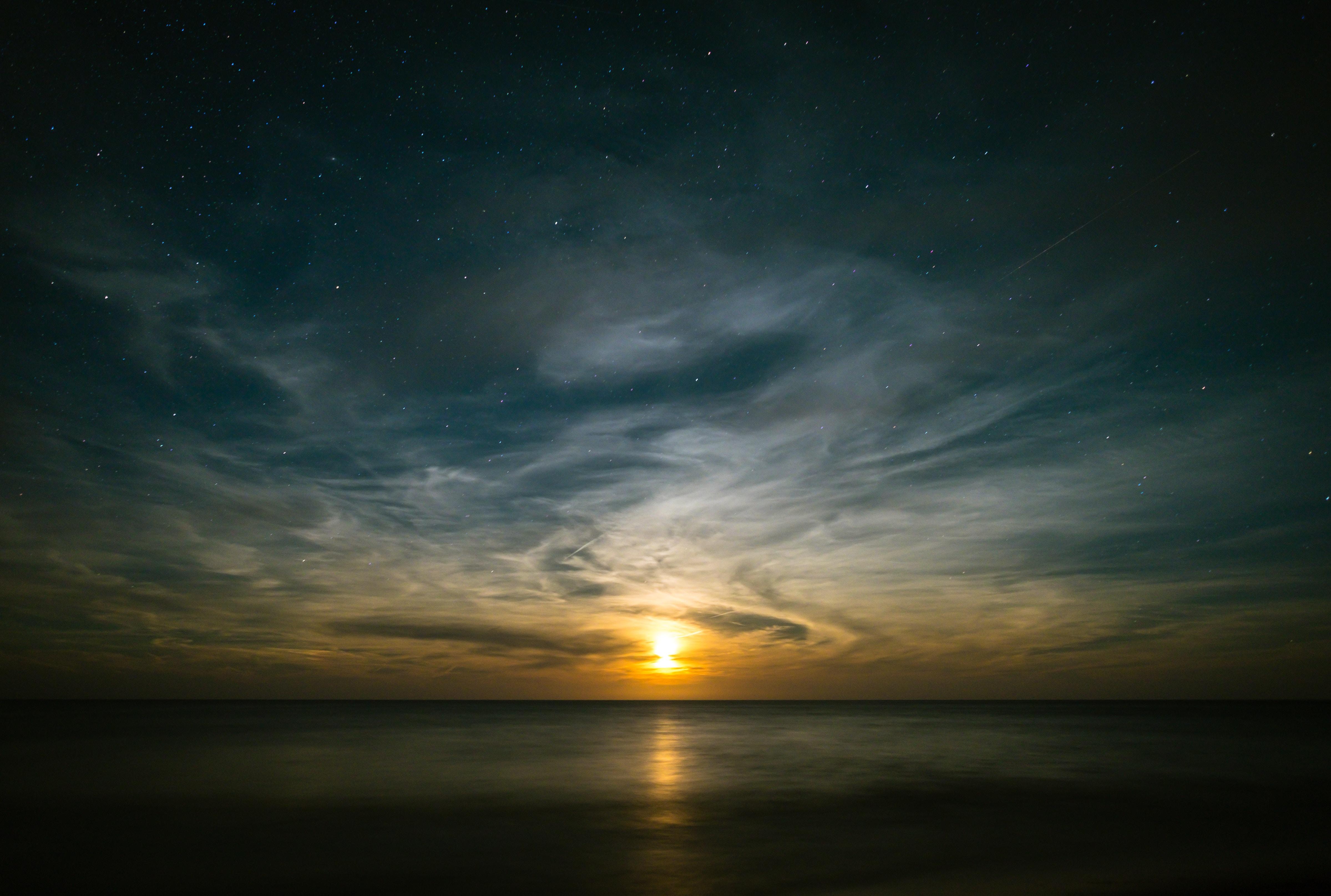 155486 fond d'écran 720x1280 sur votre téléphone gratuitement, téléchargez des images Nature, Coucher De Soleil, Sky, Horizon 720x1280 sur votre mobile