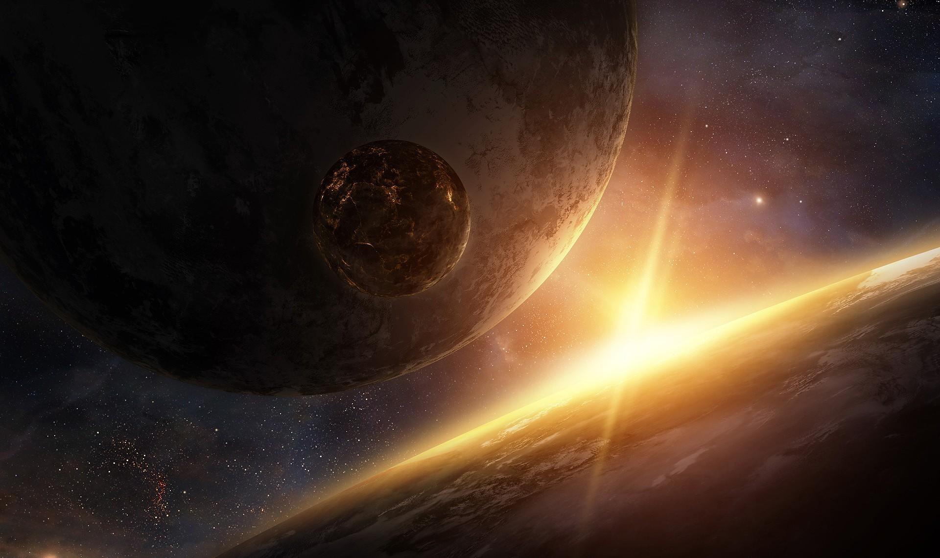 82871壁紙のダウンロードビーム, 光線, 輝く, 光, 宇宙, 星雲, 惑星-スクリーンセーバーと写真を無料で