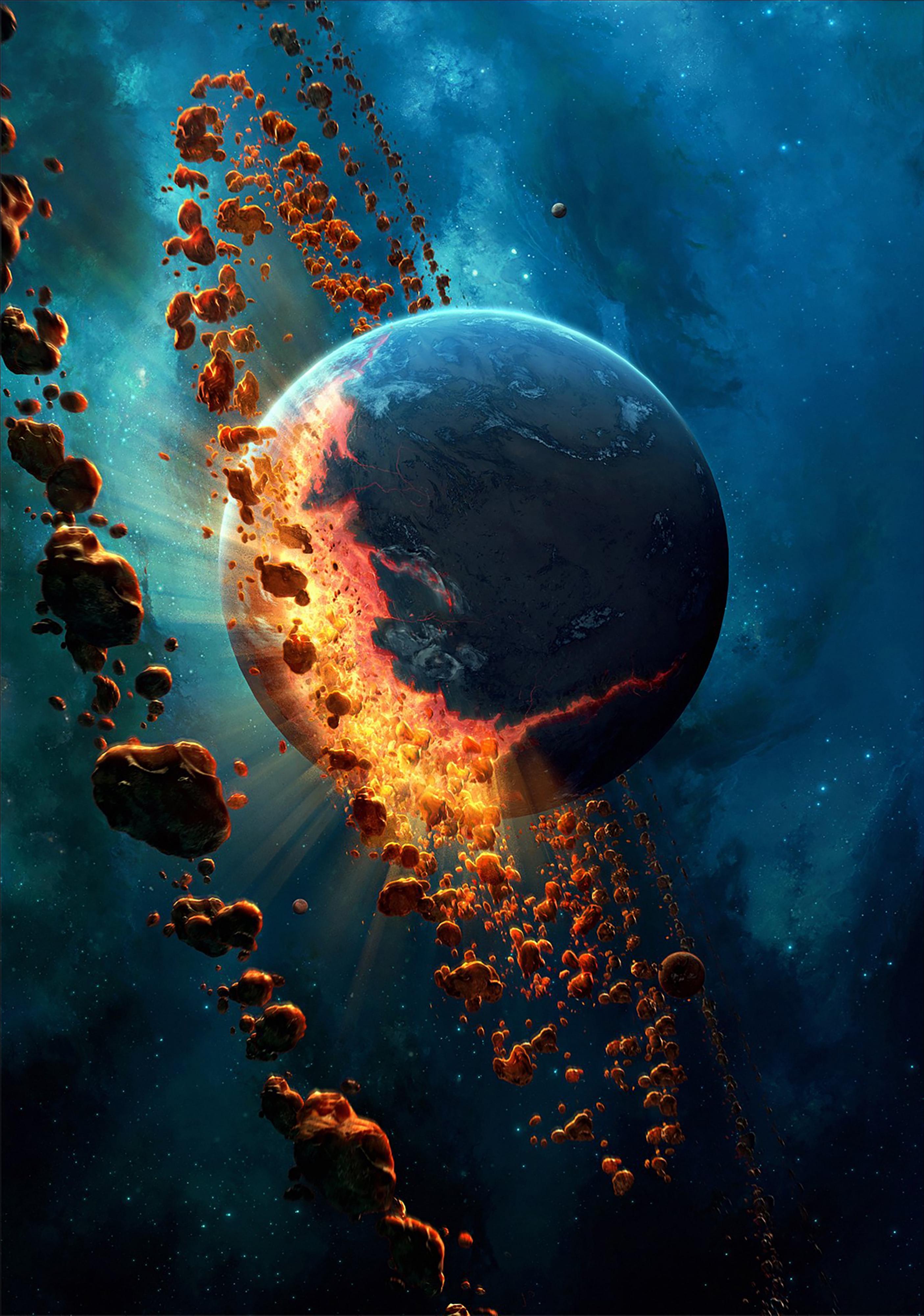 110595 скачать обои Космос, Планета, Астероиды, Гравитация - заставки и картинки бесплатно