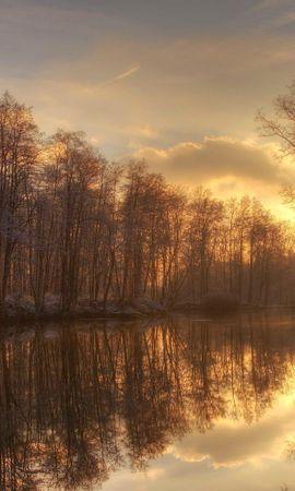 21978 скачать обои Пейзаж, Река, Деревья, Закат - заставки и картинки бесплатно
