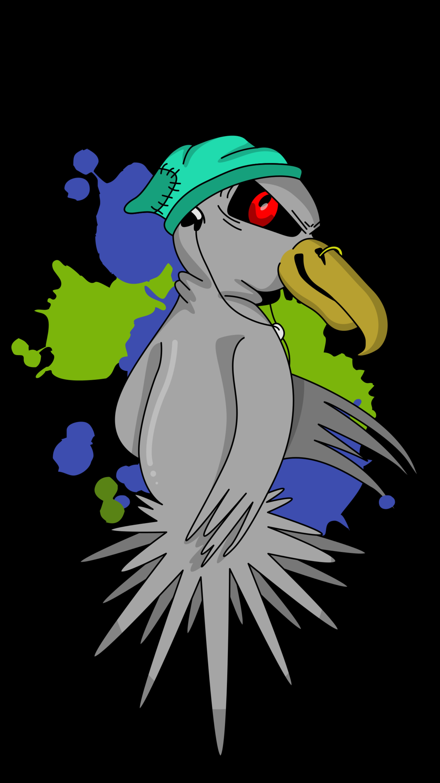 131806 download wallpaper Vector, Bird, Evil, Funny, Headphones, Cap, Art screensavers and pictures for free