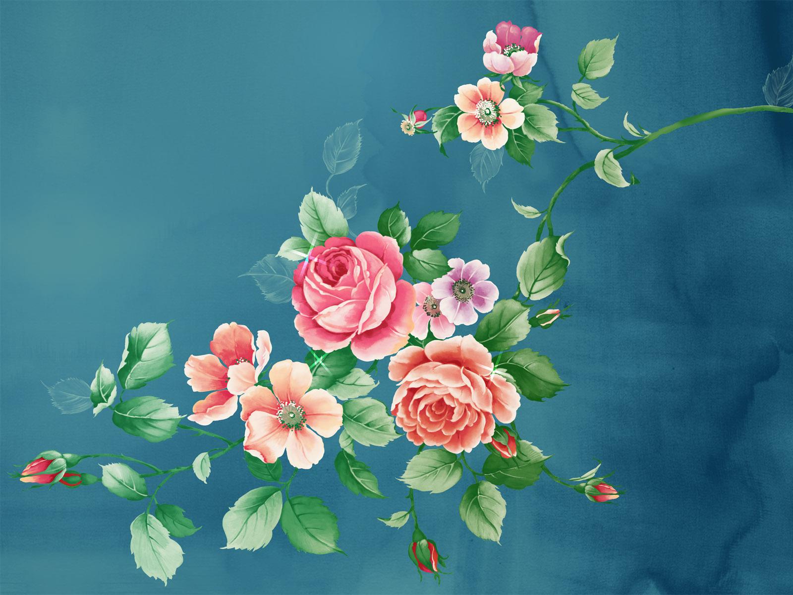 10109 télécharger le fond d'écran Plantes, Dessins, Fleurs, Roses - économiseurs d'écran et images gratuitement