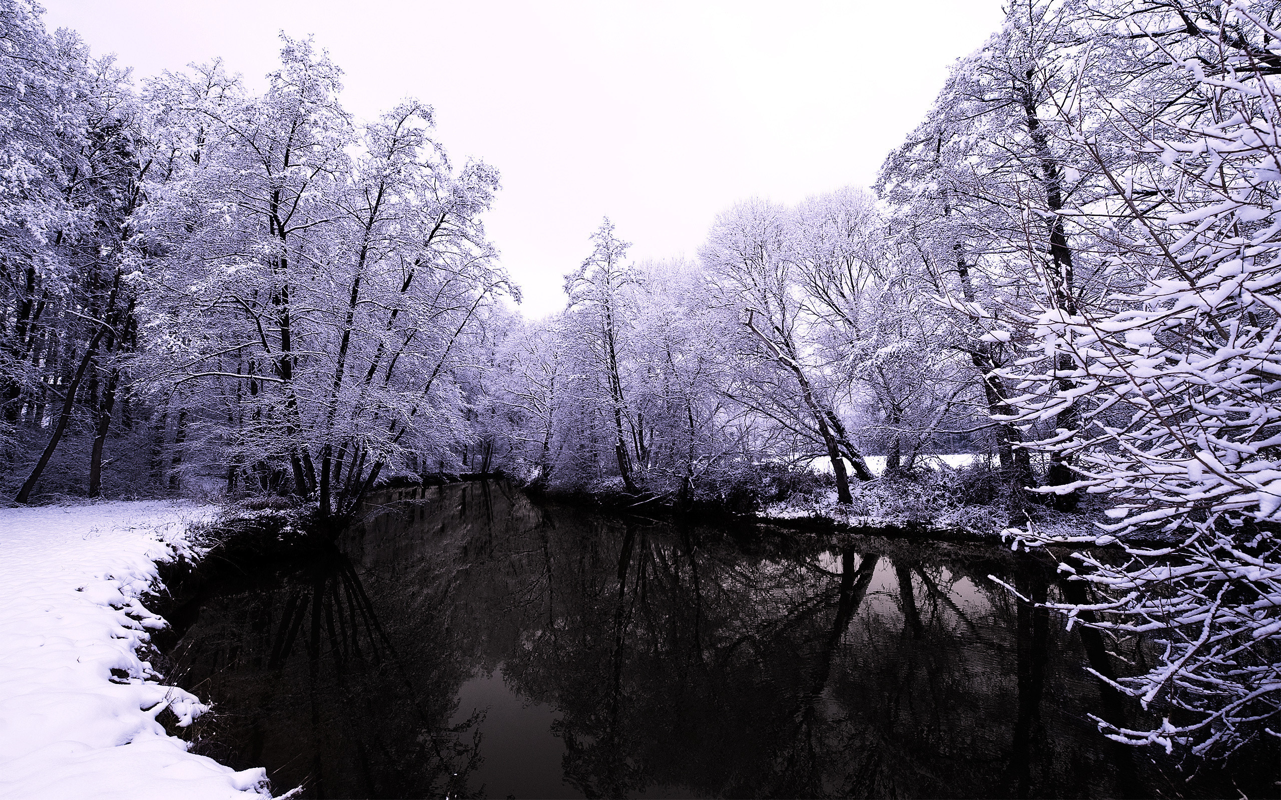 47893 download wallpaper Landscape, Winter, Nature, Snow, Lakes screensavers and pictures for free