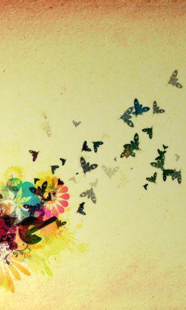 128260 descargar fondo de pantalla Las Palabras, Palabras, Vuelo, Cielo, Mariposas, Brillante, Birds: protectores de pantalla e imágenes gratis