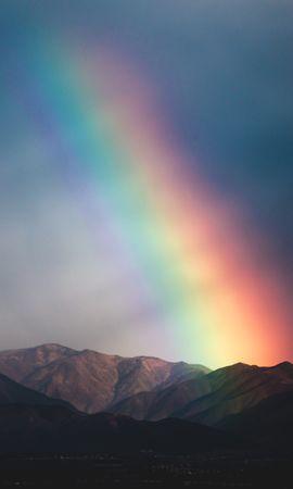95977 télécharger le fond d'écran Arc En Ciel, Crépuscule, Nature, Montagnes - économiseurs d'écran et images gratuitement